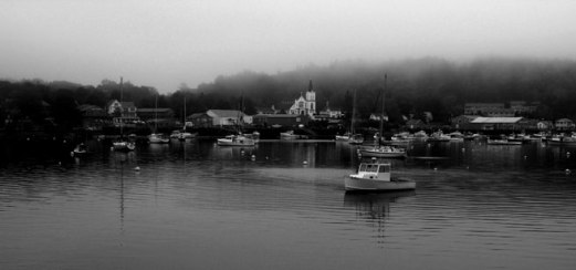 lobster-boat-harbor-b&w-cro